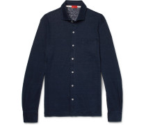Slim-fit Slub Linen-jersey Shirt