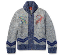 Intarsia Wool, Alpaca And Cashmere-blend Cardigan