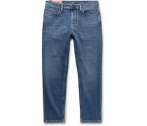 River Slim-Fit Tapered Stretch-Denim Jeans