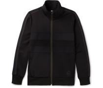 Panelled Jersey Zip-up Sweatshirt