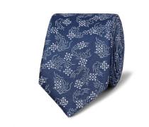 5.5cm Koi-print Silk-satin Tie
