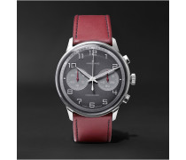 Meister Driver Chronoscope Stainless Steel And Leather Watch