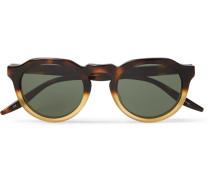 Ascot Two-tone Round-frame Acetate Sunglasses