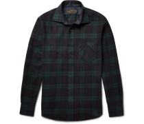 Hopkins Black Watch Checked Cotton-flannel Shirt