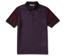 London Panelled Jacquard And Cotton-piqué Polo Shirt