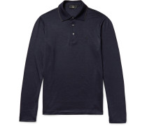 Contrast-tipped Wool Polo Shirt