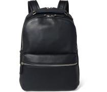 Runwell Grained-leather Backpack