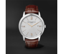 Classima 42mm Stainless Steel and Croc-Effect Leather Watch, Ref. No. 10415