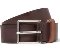 3cm Brown Burnished-leather Belt