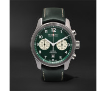 ALT1-Classic/GN Automatic Chronograph 43mm Stainless Steel and Leather Watch, Ref. No. ALT1-C/GN