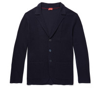 Slim-fit Textured Merino Wool Cardigan