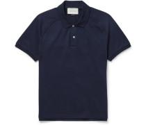Appliquéd Cotton-piqué Polo Shirt