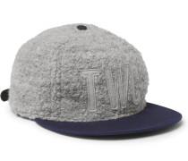 + Ebbets Field Flannels Appliquéd Bouclé Baseball Cap
