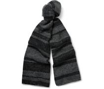 Striped Plaited Cashmere Scarf