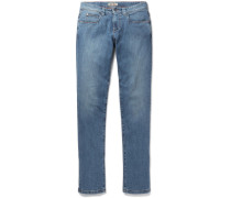 Tasche Slim-fit Washed-denim Jeans