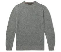 Slim-Fit Mélange Baby Cashmere Sweater
