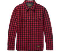 Slim-fit Buffalo-checked Wool-blend Overshirt