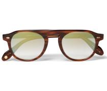 Harding 47 Round-frame Tortoiseshell Acetate Mirrored Sunglasses