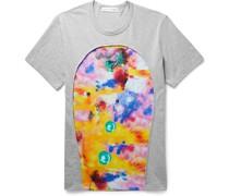 + Futura Panelled Printed Cotton-Jersey T-Shirt