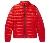 Quilted Glossed-Shell Down Jacket