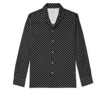 Dario Camp-Collar Polka-Dot Cotton Shirt