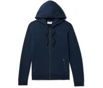 Devon Brushed Loopback Cotton-Jersey Zip-Up Hoodie