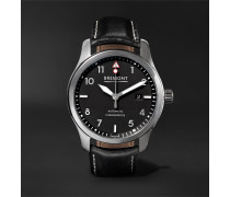 MBIII/BZS Automatic 43mm Stainless Steel and Leather Watch