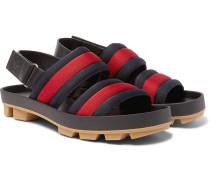 Webbing And Leather Sandals