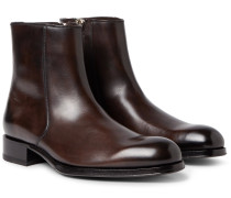 Edgar Burnished-leather Boots