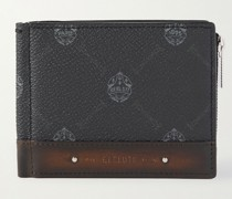 Clip Signature Canvas and Leather Billfold Wallet