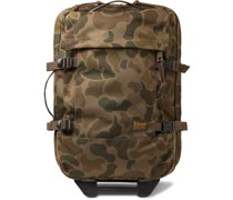 Dryden Leather-Trimmed Camouflage-Print CORDURA Carry-On Suitcase