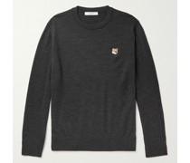 Logo-Appliquéd Wool Sweater