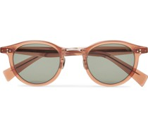 Round-Frame Acetate and Silver-Tone Sunglasses