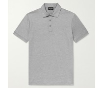 Slim-Fit Silk and Cotton-Blend Polo Shirt