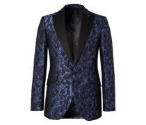 Botanics Grosgrain-Trimmed Cotton and Silk-Jacquard Tuxedo Jacket