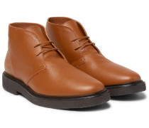 Saffiano Leather Desert Boots