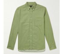 Button-Down Collar Cotton-Flannel Shirt