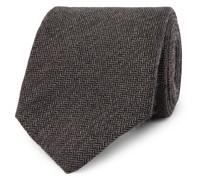 + Drake's 8cm Herringbone Cashmere Tie