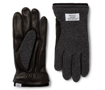 + Hestra Svante Fleece-Lined Leather and Knitted Gloves