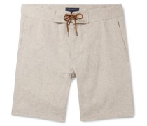 Sunset Slim-Fit Linen-Chambray Drawstring Shorts