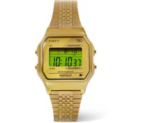 T80 34mm Gold-Tone Digital Watch