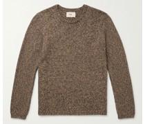 Rope Mélange Cotton-Blend Sweater