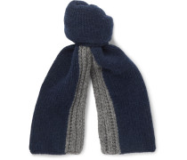 Denver Two-tone Ribbed Cashmere Scarf