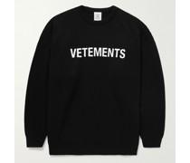 Logo-Print Merino Wool Sweater