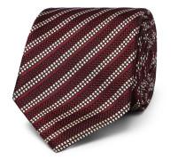 8cm Striped Woven Mulberry Silk Tie