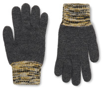 Varley Mélange-Trimmed Wool-Blend Gloves