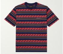 Striped Cotton-Jacquard T-Shirt