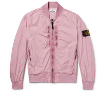 Garment-dyed Shell Bomber Jacket