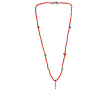 Enamel Bead Silver Necklace