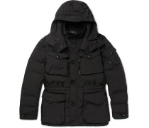Quilted Canvas Hooded Down Coat
